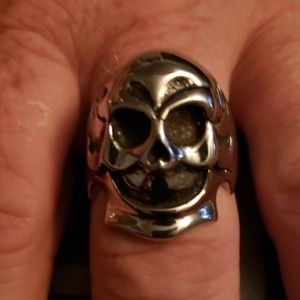 NWT Stainless Steel Clown Skull